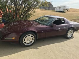 1993 Ruby Red 40th Anniversary Convertible