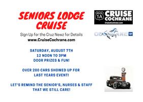 SENIOR'S LODGE CRUISE - August 7th - Cochrane Ab.