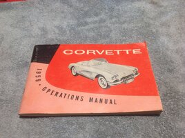 1959 Owners Manual with tear out card.