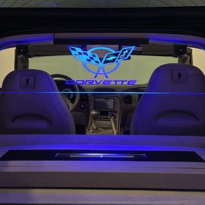 Corvette C5 Coupe Lighting Glow Plate WindRestrictor®